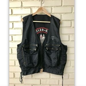 Vintage Midnight Mission Black Sleeveless Vest  L